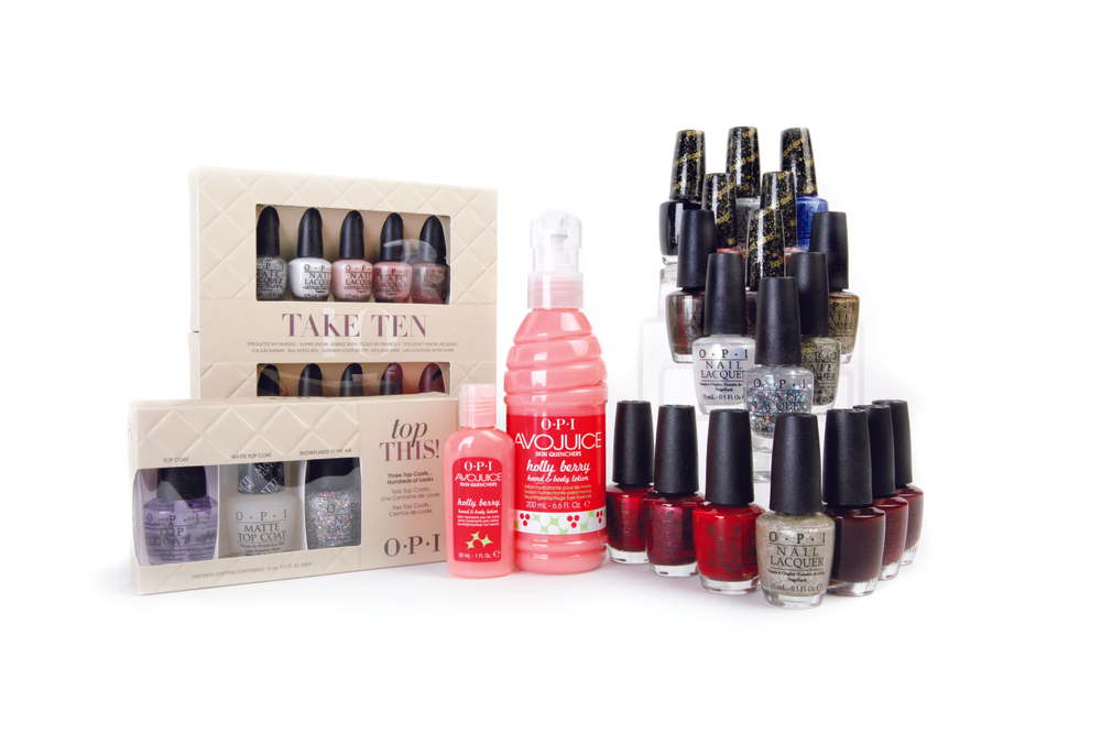 "<p><span>OPI has a number of holiday retail offerings this year. First up,&nbsp;</span><span>the company will be releasing 18 limited edition colors inspired&nbsp;</span><span>by Mariah Carey. Two new gift sets that are sure to top wish lists&nbsp;</span><span>are OPI&rsquo;s Take Ten and Top This. Take Ten contains the brand&rsquo;s&nbsp;</span><span>bestselling mini nail lacquers, and Top This features three top coats&nbsp;</span><span>for flawless finishes. Because perfect nails aren&rsquo;t always enough,&nbsp;</span><span>Avojuice Skin Quenchers hand and body lotion in Holly Berry are&nbsp;</span><span>the best gifts to complement these polishes.</span><br /><a href=""http://www.opi.com/"">www.opi.com</a></p>"