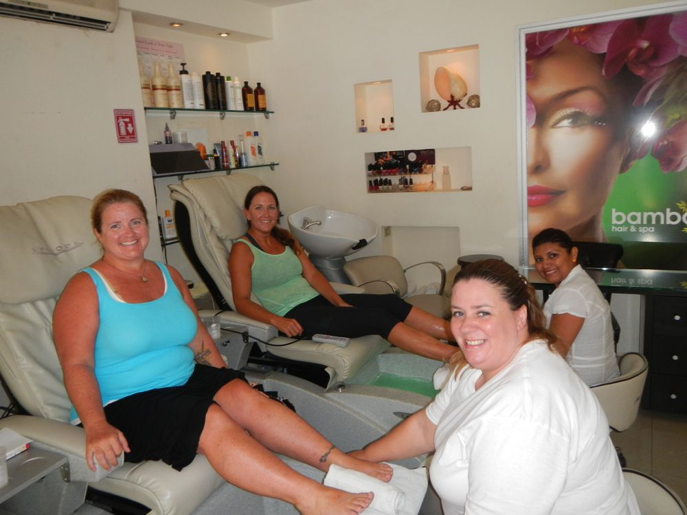 <p>In Cancun, Mexico at Bamboo Spa with my friend Nicole.</p>
