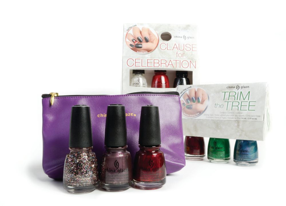 <p>China Glaze&rsquo;s Bringing in the Season gift set includes three nail polishes from its new holiday collection, Twinkle, and a matching pouchette. This holiday season, China Glaze is also offering an assortment of nail art kits with a trio of nail polishes, step-by-step instructions, and a bonus gift.</p>