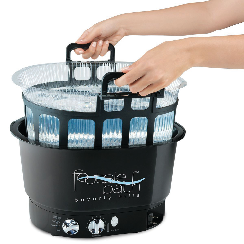 <p>FootsieBath Foot Spa features a line of mobile and lightweight tubs, sturdy, disposable tub liners, and a FootsieBath carrier tray to carry full bath liners between pedicure station and sink.<br />www.footsiebath.com</p>