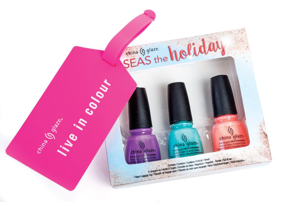 <p>China Glaze is celebrating the holidays seaside with the new winter collection, Seas and Greetings. The new set of 12 colors features tropical shades that will keep winter warm and bright.</p>