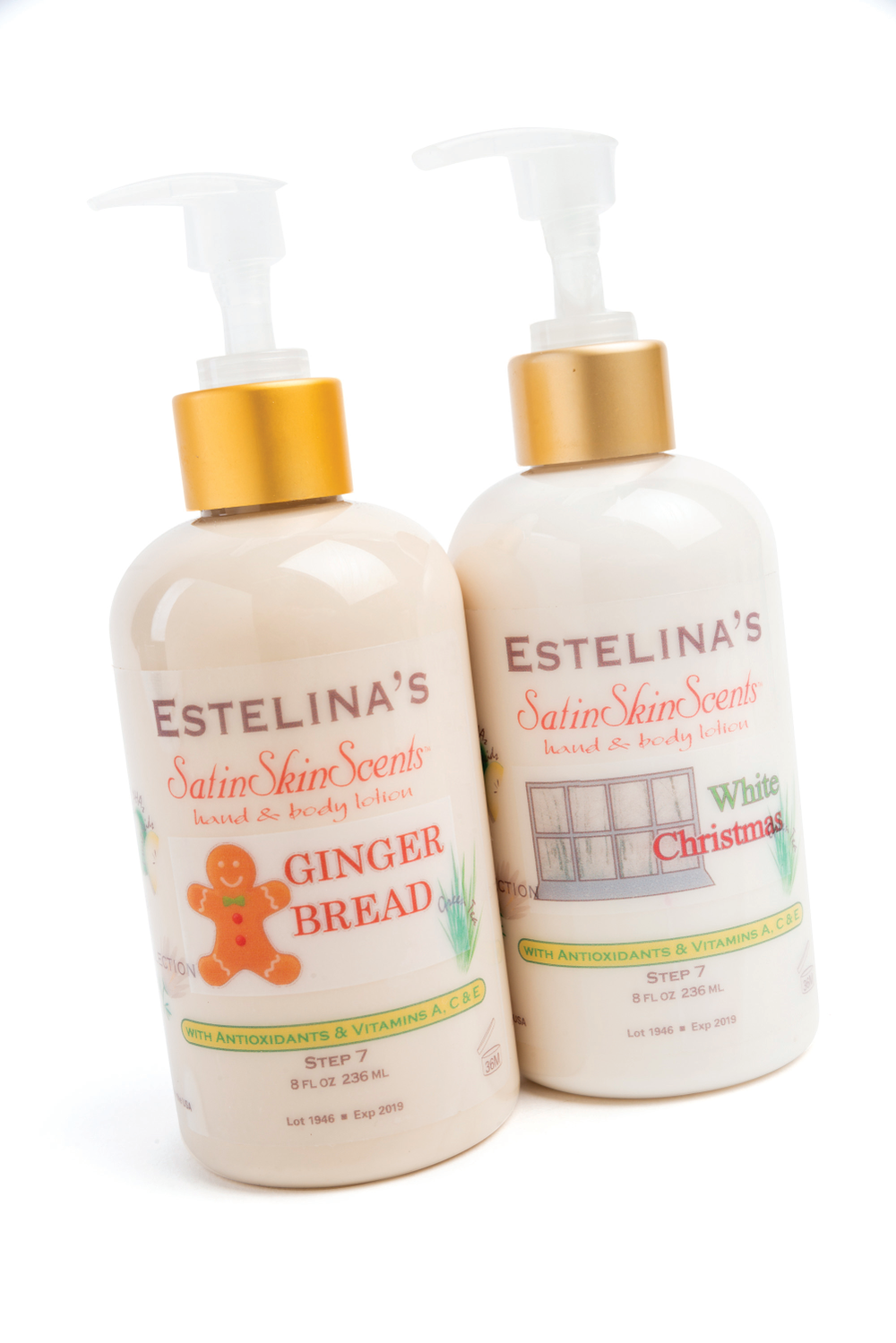 <p>Estelina&rsquo;s Satin SkinScents are non-greasy lotions that protect and moisturize skin. This season, the brand is offering two festive fragrances including Ginger Bread and White Christmas.&nbsp;</p>