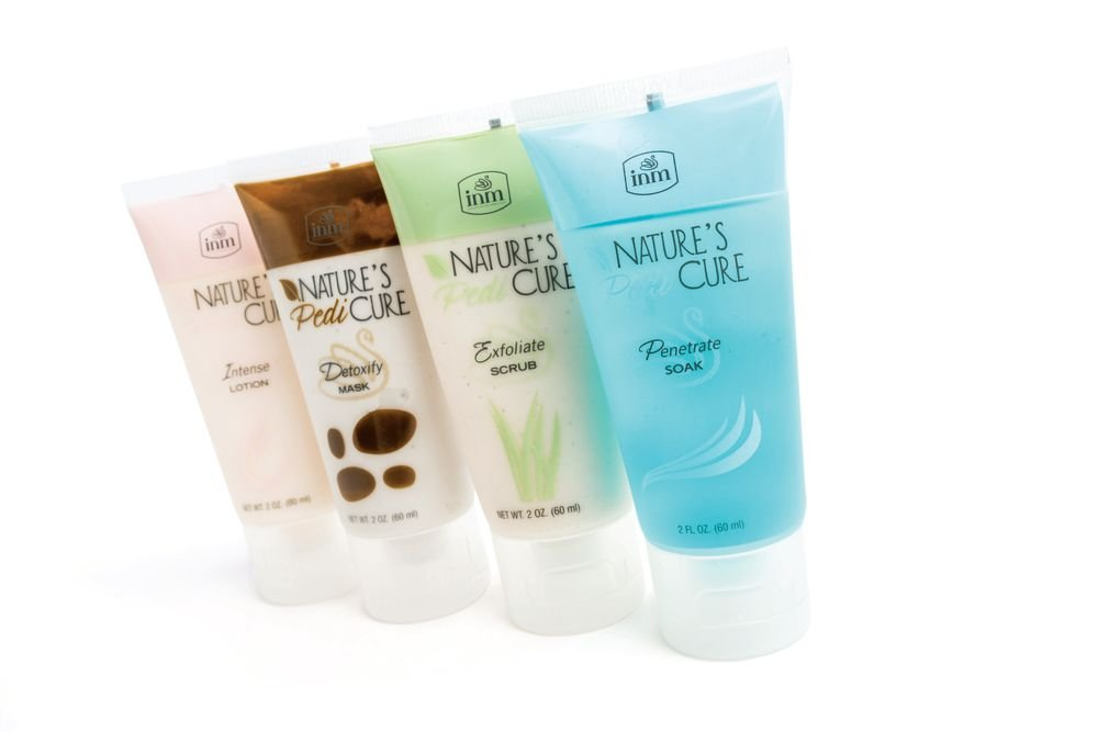 <p>The Nature&rsquo;s Pedi Cure collection of minis from INM includes the essentials of a relaxing and detoxifying at-home pedicure. Available in a travel-friendly pack, the set of four pedicure products cleanse, exfoliate, detox, and hydrate.</p>