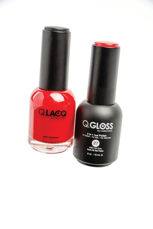 <p>Q.Gloss from Christrio is gel-polish that requires no base or top coat, which means the application is fast. Give the gift of quick color along with a matching nail polish and cute butterfly file this season.</p>