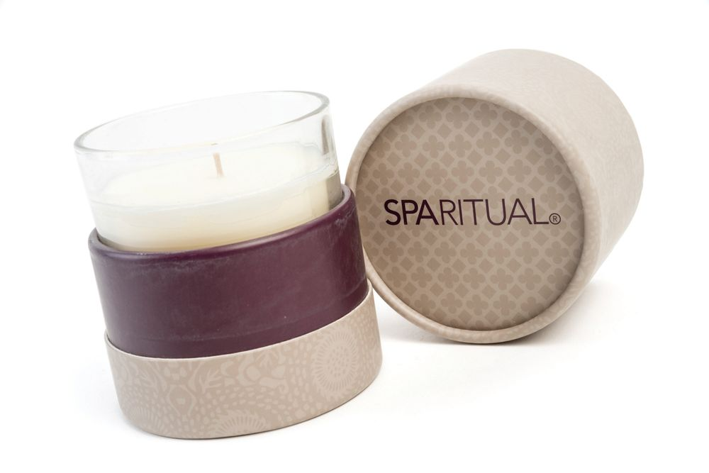<p>Unwind by lighting up your surroundings with the SpaRitual Soy Candle. It&rsquo;s blended with pure essential oils and carefully selected plant essences. Each candle is hand-poured using recycled glass and lead-free wicks and offers up to 50 hours of fragrance and illumination.</p>