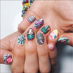 French Nail Artist Wows With Nail Art