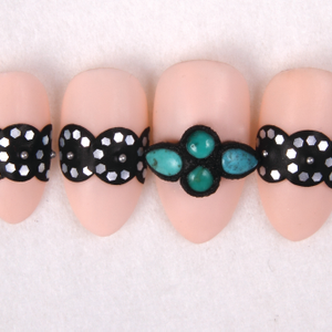 Leather and Turquoise Belt Nail Art