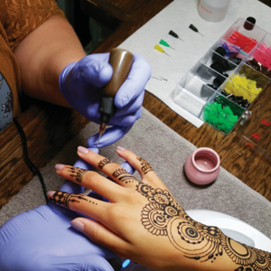 Henna Services Give Nail Salon a Unique Twist