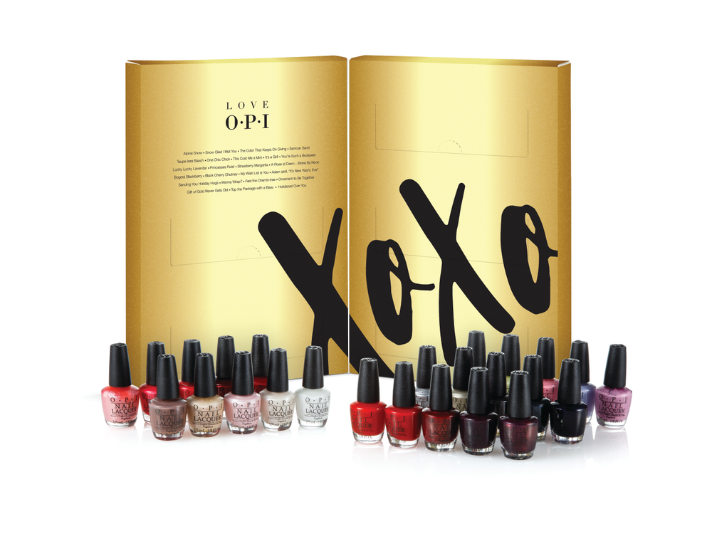 <p>OPI's Holiday XOXO Mini 25 Pack features an assortment of iconic shades in mini (3.75ml) bottles, including Alpine Snow, Gift of Hold Never Gets Old, and My Wish List is You.<br />www.opi.com</p>