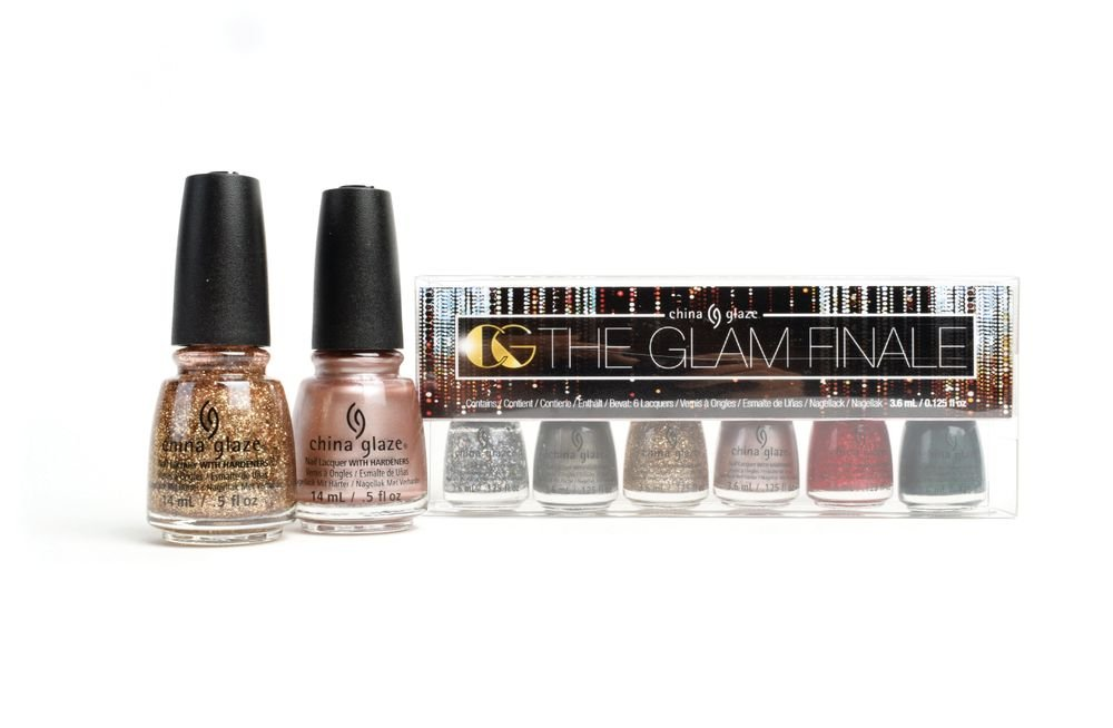 "<p>Break out the sequins and rock the night away with China Glaze's The Glam Finale. This collection of 12 glitters and metallics is also available in three holiday gift sets for the beauty lover in your life: As Good As It Glitz, Slay Bells Ring Lashes Kit (includes one pair of Ardell Lashes), and The Glam Finale Kit containing six micro-minis.<br /><a href=""http://www.chinaglaze.com"">www.chinaglaze.com</a></p>"