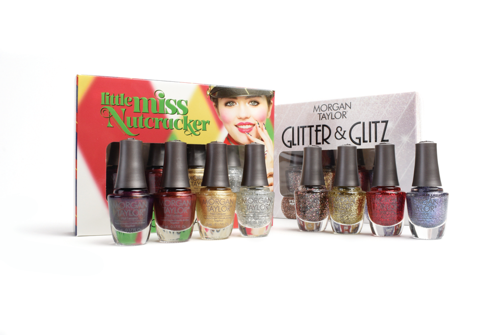 "<p>Morgan Taylor Little Miss Nutcracker Mini 4-Pack: From a glistening silver metallic to a bold, red shimmer, each Little Miss Nutcracker Shade will bring cheer to your nails and heart. One mini four-pack includes Make A Statement, Glitter &amp; Gold, Rare As Rubies, and It's My Party; the other includes Silver In My Stocking, Just Tutu Much, Plum-thing Magical, and Don't Toy With My Heart.<br /><a href=""http://www.morgantaylorlacquer.com"">www.morgantaylorlacquer.com</a></p>"
