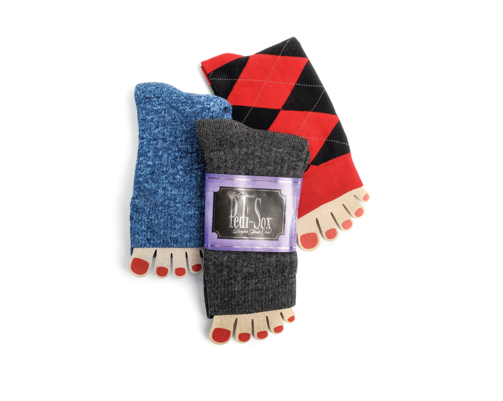 "<p>These holiday-themed Pedi-Sox will keep customers' freshly painted holiday toes comfy, cozy, and clean. Pedi-Sox encourage pedicure services in the colder months and make great stocking stuffers.<br /><a href=""http://www.originalpedisox.com"">www.originalpedisox.com</a></p>"