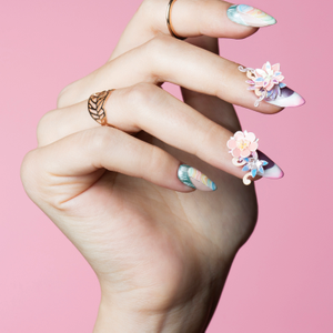 Behind the Scenes: Pastel Reverse French Nail Art