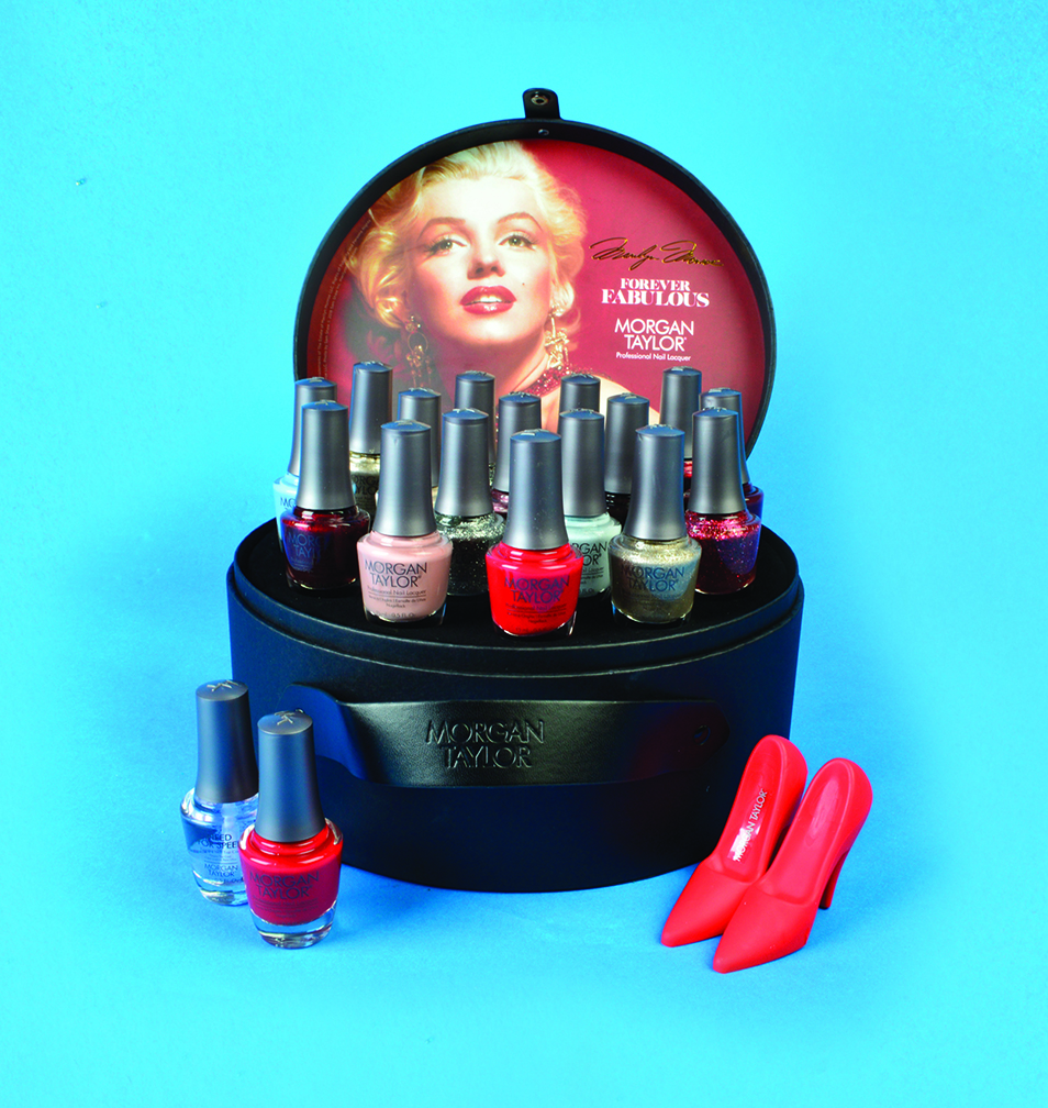 """<p>Morgan Taylor <br />Marilyn Monroe Forever Fabulous Collection With Free Phone Stand<br /><a href=""""http://www.morgantaylorlacquer.com"""">www.morgantaylorlacquer.com</a></p>"""