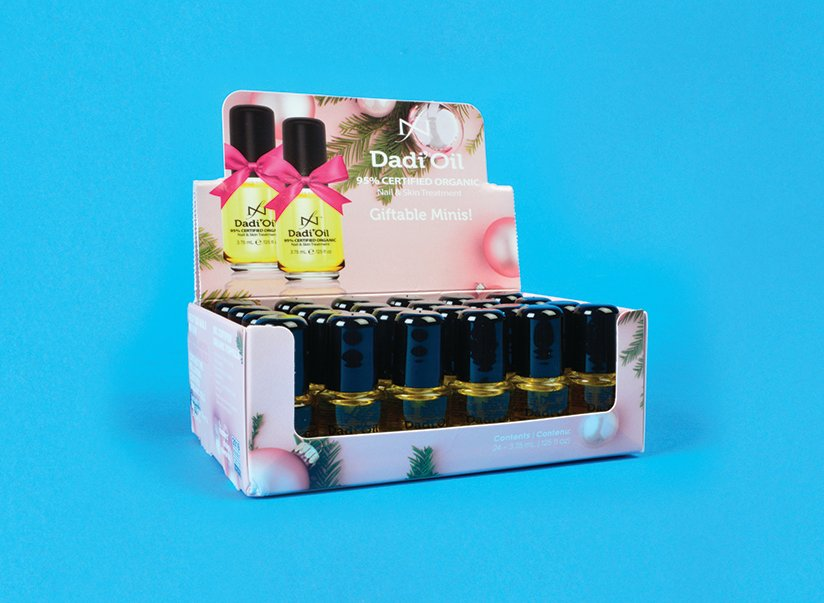 """<p>Famous Names Dadi' Oil Giftable Minis<br /><a href=""""http://www.famousnamesproducts.com"""">www.famousnamesproducts.com </a></p>"""
