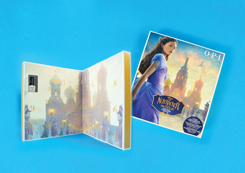 """<p>OPI Disney's The Nutcracker and the Four Realms Collection Advent Calendar<br /><a href=""""http://www.opi.com"""">www.opi.com </a></p>"""