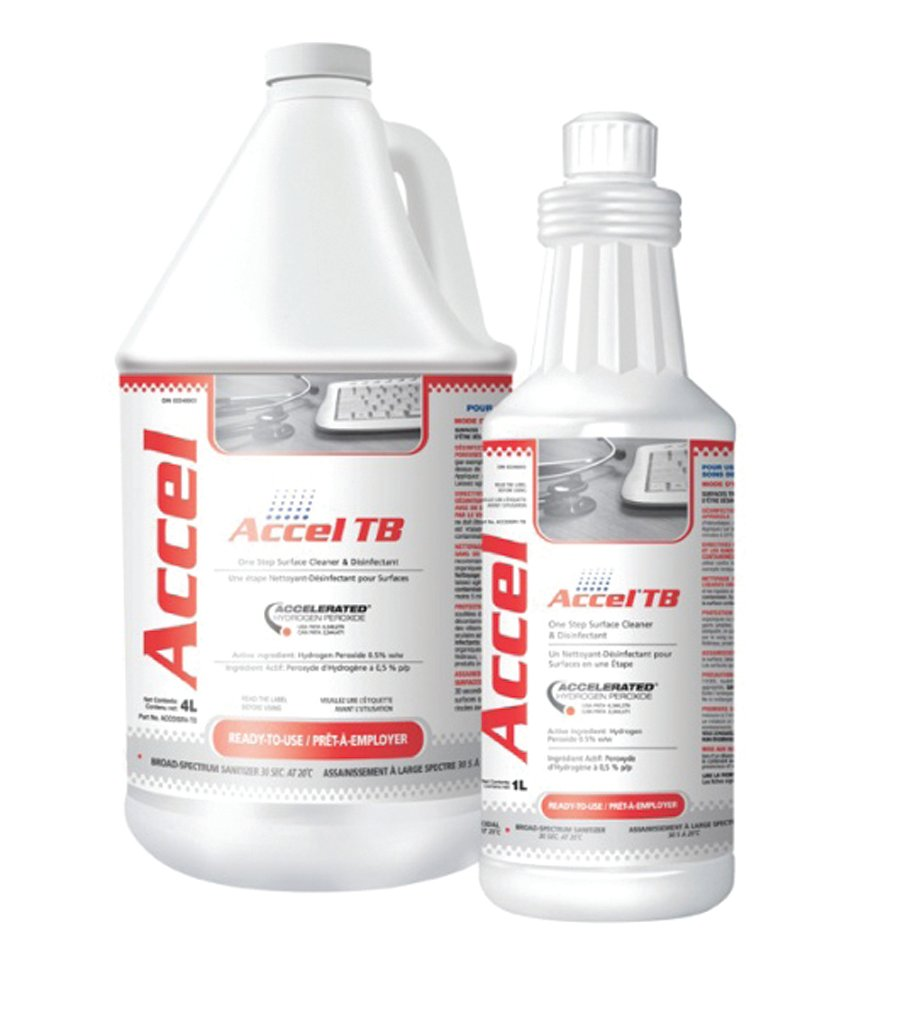 """<p><strong>Accel&rsquo;s</strong><span>&nbsp;accelerated hydrogen-peroxide&nbsp;</span><span>(AHP) is a hospital-grade, EPA-registered&nbsp;</span><span>cleaner and disinfectant used for infection&nbsp;</span><span>control in the beauty industry. It features a&nbsp;</span><span>patented blend of commonly used ingredients&nbsp;</span><span>that when combined with low levels of&nbsp;</span><span>hydrogen peroxide have increased germicidal&nbsp;</span><span>potency and cleaning performance. AHP&nbsp;</span><span>is safe and considerate to the nail tech and&nbsp;</span><span>client&rsquo;s health.</span><br /><a href=""""http://www.virox.com/"""">www.virox.com</a></p>"""