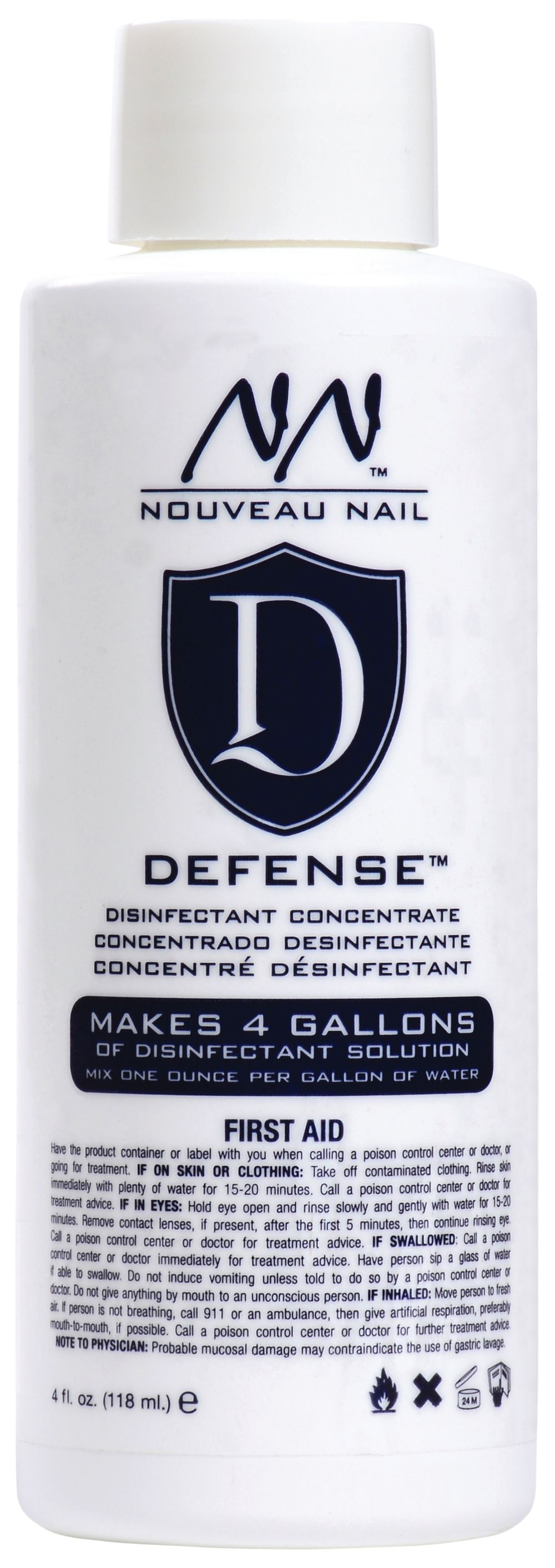 """<p><strong>Nouveau Nail&rsquo;s</strong><span>&nbsp;Defense Disinfectant&nbsp;</span><span>Concentrate is a super-concentrated&nbsp;</span><span>disinfectant solution. One ounce of the&nbsp;</span><span>concentrate makes a full gallon of hospitalgrade&nbsp;</span><span>disinfectant solution to disinfect&nbsp;</span><span>implements, tools, and files.</span><br /><a href=""""http://www.premiernailsource.com/"""">www.premiernailsource.com</a></p>"""