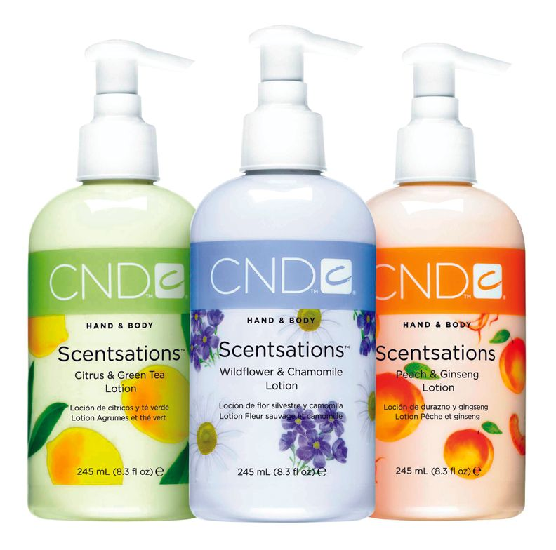 <p>FAVORITE LOTION FOR HANDS AND BODY<br />1. CND: Scentsations<br />2. OPI Products: Avojuice Skin Quenchers Lotion<br />3. Young Nails: Lomasi Lotions<br />4. NSI: Nurture Lotion<br />5. Star Nail: Cuccio Vanilla Body Butter<br /><br /></p>