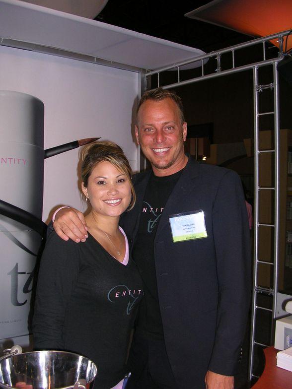 <p>Tom's long-time model and protege Alisha Rimando Botero joined him at Entity.</p>