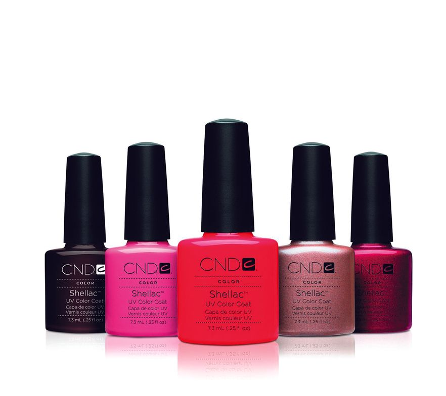 <p>FAVORITE POLISH (GEL-POLISH OR UV-CURED POLISH)</p> <p>1. <strong>CND:</strong> Shellac</p> <p>2. <strong>Hand &amp; Nail Harmony: </strong>Gelish</p> <p>3. <strong>Young Nails:</strong> ManiQ Color</p> <p>4. <strong>NSI:</strong> Polish Pro</p> <p>5. <strong>Jessica Cosmetics:</strong> GELeration</p>