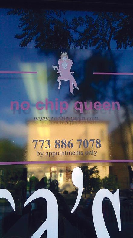 <p><strong>No Chip Queen, Chicago</strong><br />&ldquo;I am renting a space in a friend&rsquo;s salon (she does hair and I do nails) and most of the window features the name of her salon. But I do have a pink sign on the front window that&rsquo;s the &lsquo;no-chip queen&rsquo; sitting on a pedestal with a drink in her hand. My sign stands&nbsp;out nicely since it&rsquo;s pink and the queen on a pedestal is noticeable, fun, and cute, and all my clients love it. Just the other day there was a&nbsp;woman&nbsp;(now my client) who opened&nbsp;the door to ask, &lsquo;Who is the no-chip queen?&rsquo; I answered, &lsquo;Me!&rsquo;&rdquo; &mdash; Felicia Jogisoo</p>