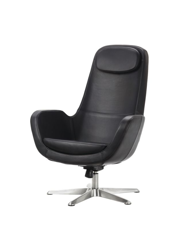 """<p><a href=""""http://www.ikea.com/"""">IKEA&rsquo;</a>s Arvika swivel chair is popular among salons for its modern look and easy maintenance. Made of solid leather, it is soft and ages gracefully. The Arvika footstool is an optional matching purchase. Choose your own pedicure basin from a separate manufacturer to complete the look.</p>"""