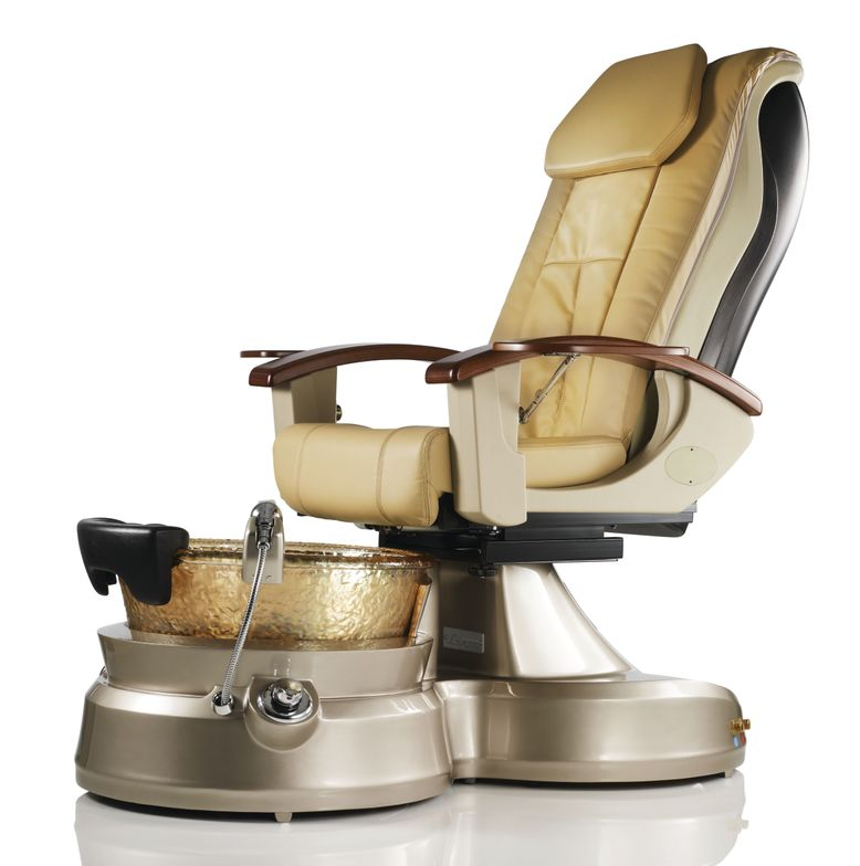 """<p><a href=""""http://www.toepia.com/"""">J&amp;A USA</a> combines the elegance of its sculptural glass bowl with the efficiencies of a pipeless whirpool system and the comforts of a full massage chair in its Lenox SE Pedicure Spa. Form and function gracefully combine in its fold-away armrest/side table, designed for ease of access. An easily removeable foot rest adds an additional comfort option.</p>"""
