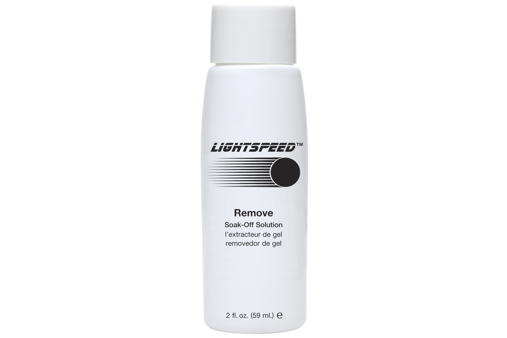 <p>AmericaNails&rsquo; Lightspeed Remover is a conditioning soak-off solution that effectively removes gel lacquer in minutes without drying the skin.<br /><br /></p>