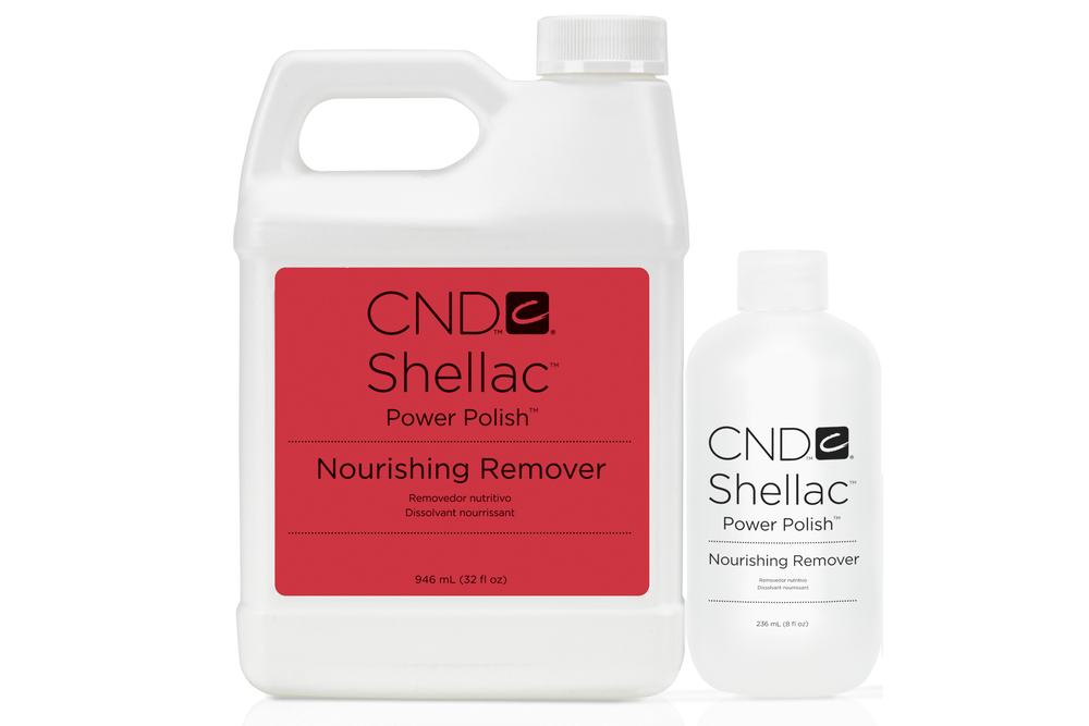 <p>CND&rsquo;s Shellac Nourishing Remover is a powerful yet gentle product for removing Shellac Power Polish. Infused with macadamia and vitamin E oils to condition nails and skin, Shellac Nourishing Remover reduces dehydration and dryness during removal and has a pleasant fragrance that&rsquo;s appealing to clients.<br /><br /></p>