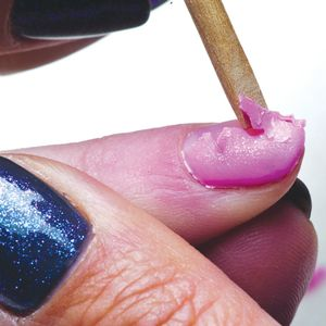 Removing gel polish should require no more pressure or force than a gentle push with an...