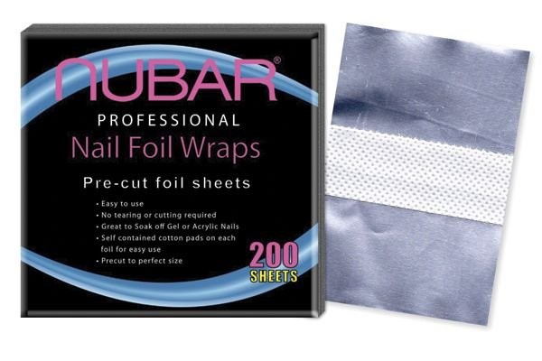 "<p><a href=""http://www.bynubar.com"">Nubar</a> Professional Nail Foil Wraps are pre-cut foil sheets that have a cotton pad attached to make soaking off nail enhancements a fast and easy service. <br /><br /></p>"