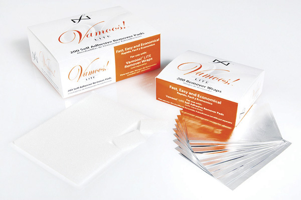 "<p>Vamoos Lite Remover Wraps and Pads from <a href=""http://www.famousnamesproducts.com"">Famous Names </a>are a unique system that makes removal of all enhancement products (on both fingers and toes) easy and economical. These easy-to-use foils have a seam for easy placement just above the cuticle line.<br /><br /></p>"