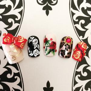 Dolce & Gabbana-Inspired Nail Art