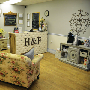 "Owner Angie Prichard describes her style as ""shabby chic."""