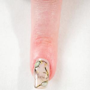 Kokoist Marble With Gem Accent Nail Art Tutorial