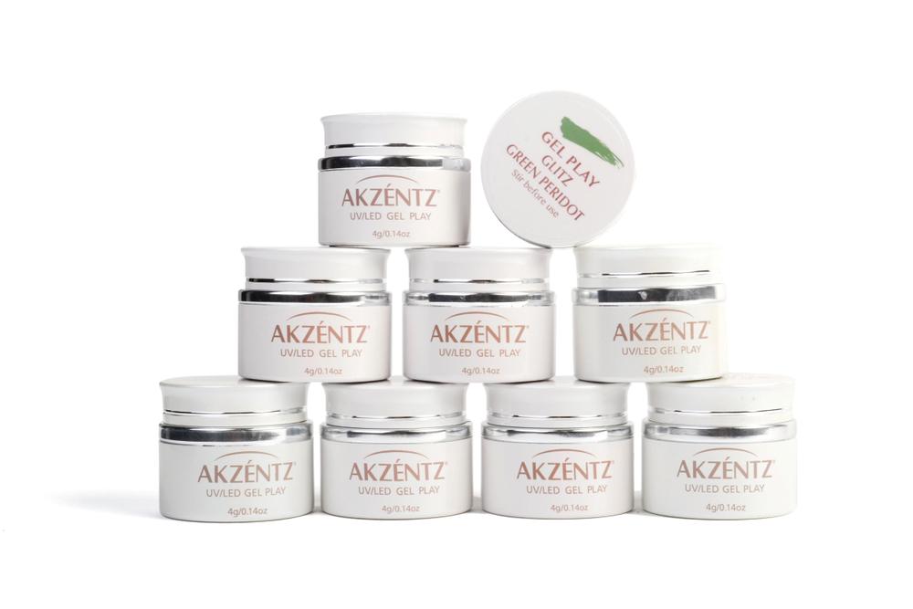 """<p>Akzéntz Gel Play Glitz<br /><a href=""""http://www.akzentz.com"""">www.akzentz.com</a></p>"""