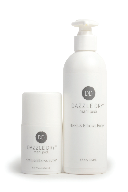 "<p>Dazzle Dry Mani Pedi Heels &amp; Elbows Butter<br /><a href=""http://www.dazzledry.com"">www.dazzledry.com</a></p>"