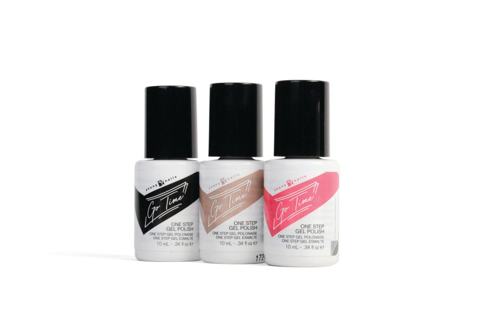 "<p>Young Nails Go Time One Step Gel Polish<br /><a href=""http://www.youngnails.com"">www.youngnails.com</a></p>"
