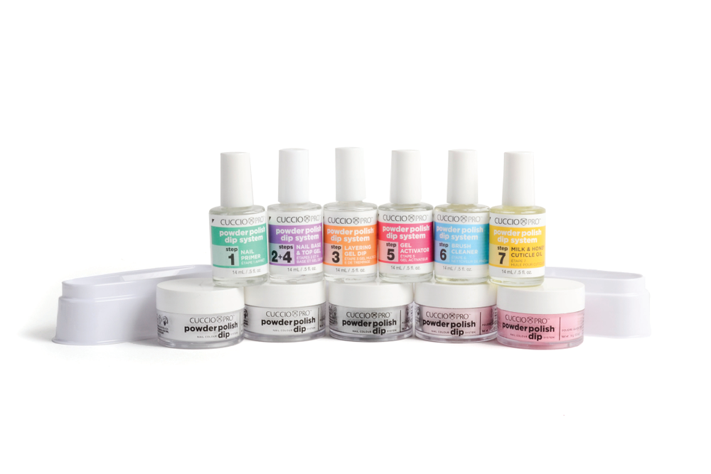 "<p>Cuccio Pro Powder Polish Nail Color Dip System gives salon clients up to 14 days of professional nail color with the wearability of a gel and the durability of an acrylic. This odor free system utilizes specially formulated resins, activators, and finely milled, highly pigmented powders that create a vibrant set of nails with a high-gloss shine.</p> <p><a href=""http://www.cuccio.com"">www.cuccio.com</a></p>"