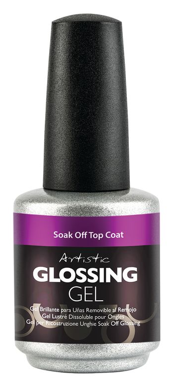 "<p>Artistic Nail Design Glossing Gel Soak-Off Top Coat </p> <p><a href=""http://www.artisticnaildesign.com"">www.artisticnaildesign.com </a></p>"