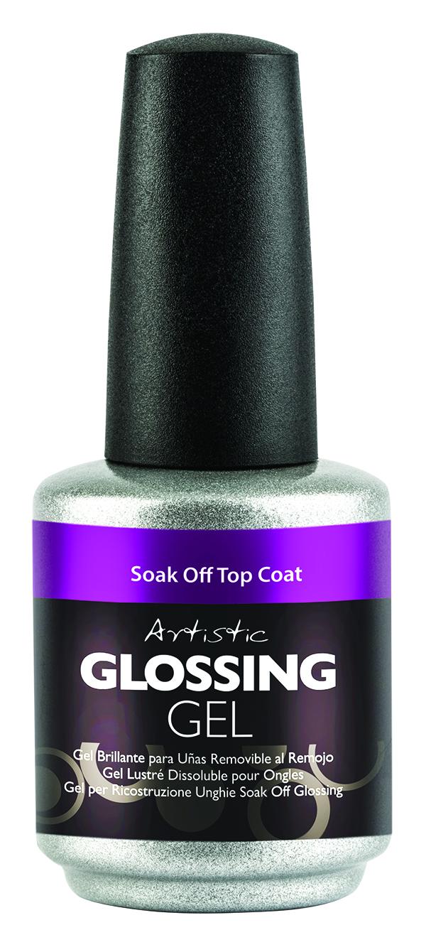 "<p>Artistic Nail Design Glossing Gel Soak-Off Top Coat </p> <p><a href=""http://www.artisticnaildesign.com"">www.artisticnaildesign.com </a></p>"