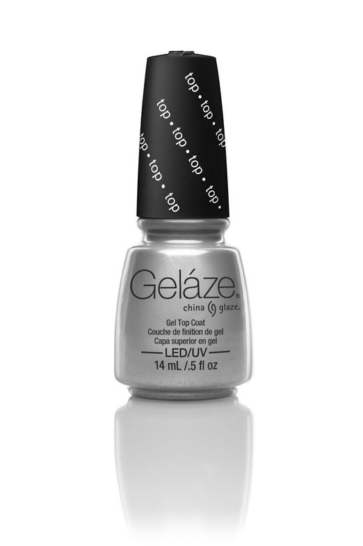 "<p>China Glaze Geláze Gel Top Coat</p> <p><a href=""http://www.chinaglaze.com"">www.chinaglaze.com </a></p>"