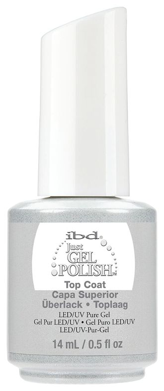 "<p>IBD Just Gel Polish Top Coat </p> <p><a href=""http://www.ibdbeauty.com"">www.ibdbeauty.com </a></p>"