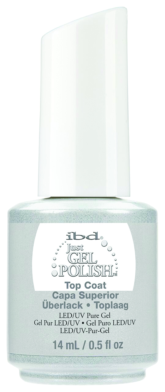 "<p>IBD Just Gel Polish Top Coat </p> <p><a href=""http://www.ibdbeauty.com"">www.ibdbeauty.com </a></p>"