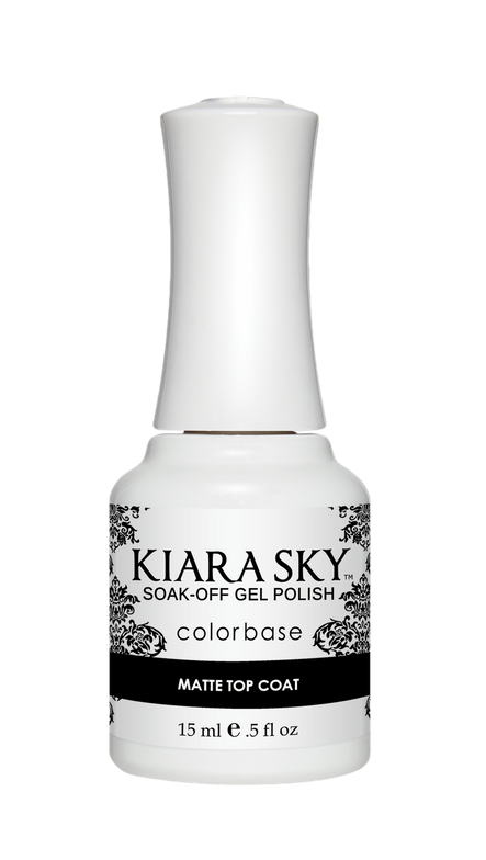 <p>Kiara Sky Colorbase Matte Top Coat </p>