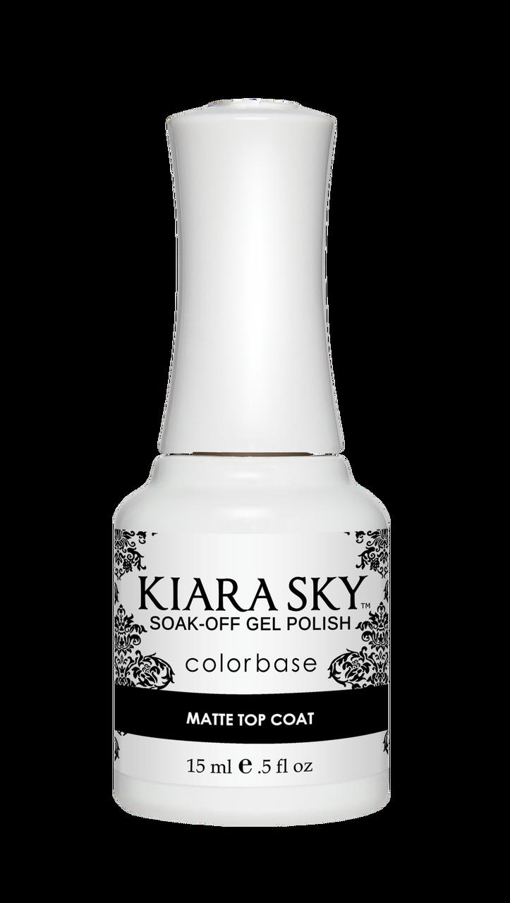 <p>Kiara Sky Colorbase Matte Top Coat </p>