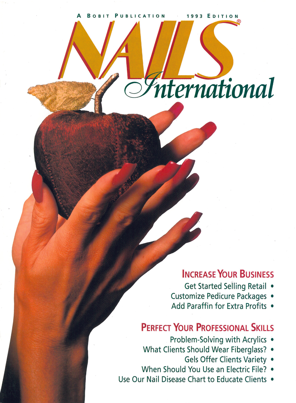 <p><strong>1992</strong>: NAILS launches an international edition, which we published through 1996.</p>