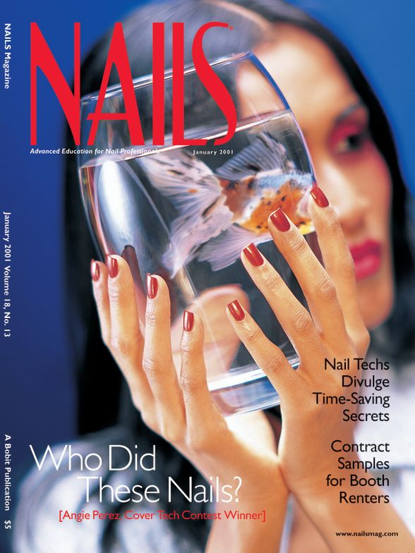<p><strong>2001</strong>: NAILS hosts its first annual cover tech contest. The winner is Angie Perez.</p>
