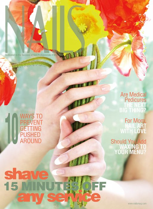 """<p><a href=""""http://www.nailsmag.com/magazine/2007/05"""">May 2007</a></p> <p><a href=""""http://www.nailsmag.com/article/40398/behind-the-scenes-cover-perfect-tip-and-overlay-nails"""">Behind the Scenes: Tip-and-Overlay Nails</a></p>"""